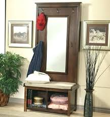 Coat Racks With Storage Bench Adorable Entryway Coat Rack Bench Entry Hall Tree Oak Finish Coat Rack