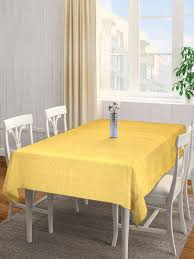neudis yellow geometric cotton hand woven cotton rectangular table cover