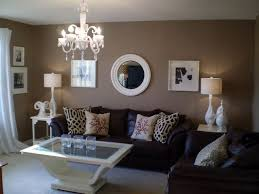 leather couch brown living room decor