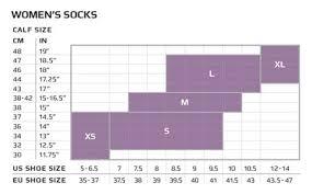 Thorlo Experia Socks Size Chart Sizing Charts