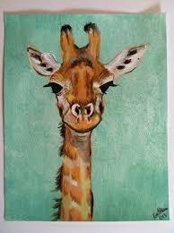 giraffe paintings the 25 best giraffe painting ideas on giraffe art images