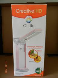 Daylight Full Spectrum Folding Craft Light Ottlite Daylight Folding Desk Lamp Light T80212 Full Spectrum Sewing Craft Pink