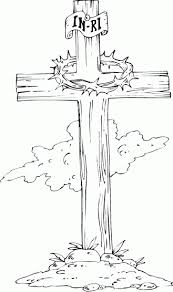 Wooden Cross Coloring Pages Printable