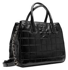 Tory Burch Marion New Quilted Patent Black Leather Tote - Tradesy & Tory Burch Marion Patent Quilted Britten Brody Ella Fleming Robinson Thea  York Reva Miller Tote in Adamdwight.com