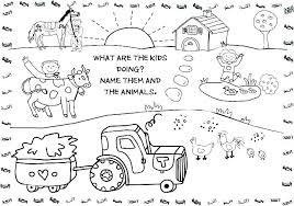 Farm Animal Colouring Pages To Print Coloring Printable Sheets