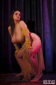 Big boob belly dancer