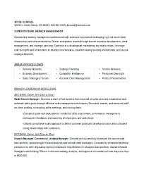 Resume Templates For Bank Teller General Banking Resume Bank Account