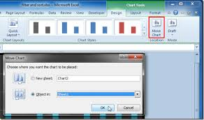 Move Chart As Object To Any Worksheet Excel 2010