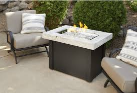 providence height fire table with white onyx top by outdoor greatroom