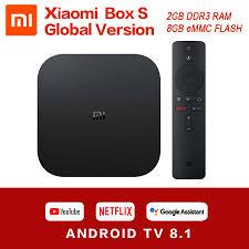Original Global Xiaomi Mi TV Box S 4K HDR Android TV 8.1 Ultra HD 2G 8G  WIFI Google Cast Netflix Set top Mi Box 4 Media Player|Set-top Boxes