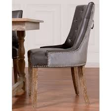chair design ideas leather nailhead dining chairs uptown leather velvet dining chair set of nailhead