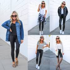 you asked and today i m answering how to style the amazingly flattering spanx faux leather leggings after sharing a try on session of these very