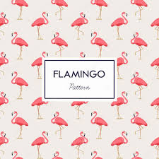 Flamingo Pattern Custom Lovely Pink Flamingos Pattern Stock Vector © Mashatace 48