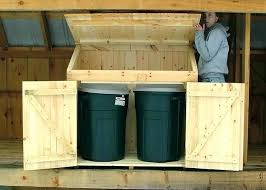 outdoor garbage can storage trash container shed home depot outdo