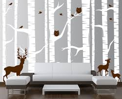 birch tree wall art decals