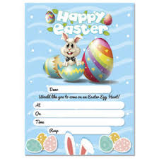 Details About 20 X Easter Egg Hunt Party Invitations Happy Easter Invite Cards Kids Adult