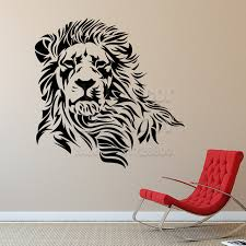 Small Picture Aliexpresscom Buy Lion wall sticker home decor Vinyl Animal