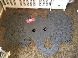 Elephant Rug Crochet Pattern Awesome Elephant Area Rug For Nursery Dubious Rugs Vintage Home Interior