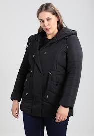 soft hooded padded winter coat black