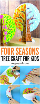 A four season tree craft for kids! This 3D craft is a great way to