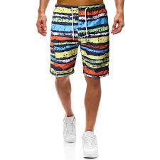 Mens Rainbows Size Chart Summer New Mens Rainbow Striped Quick Drying Swimwear