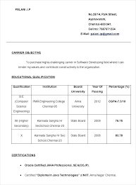 Simple Resume Format For Freshers – Lespa