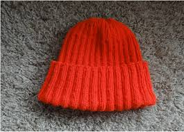 Ribbed Hat Knitting Pattern