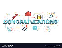 Word For Congratulations Congratulations Word For Celebration Concept