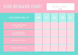 Pink Blue Cute Behavior Preschoolers Reward Chart