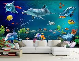 3d wallpaper custom photo mural sea world dolphin fish scenery room decoration painting 3d wall murals wallpaper for walls 3 d hd free wallpapers hd hd hd