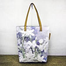 magnolia fl painting printed canvas tote bags for