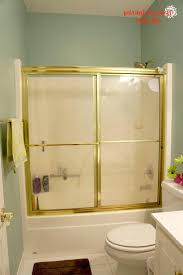 frosted glass shower doors custom door cleaning partially