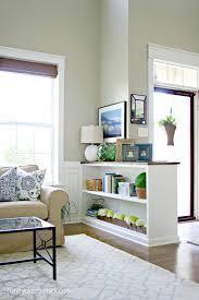 half wall bookcase diy