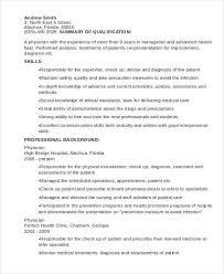 10 Sample Medical Curriculum Vitae Templates Pdf Doc