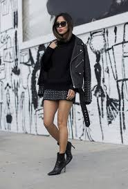 studded leather is a definite yes wear the style like aimee by pairing it