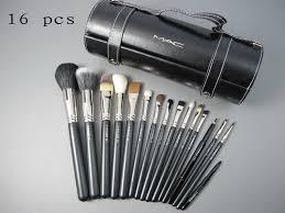 mac kit makeup uk professional soft beauty cosmetics set pcs 16 brushes