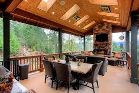 two level covered deck style in location