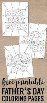 This is also a great way to keep kids busy with a fun childrens craft and help include them in celebrating grandpa's big day! Happy Father S Day Coloring Pages Free Printables Paper Trail Design Fathers Day Coloring Page Father S Day Diy Fathers Day Crafts
