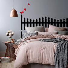 headboard wall sticker modern headboard wall decal diy creative wall decor bedroom decor home improvement cut