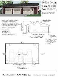 extra large 3 car garage plans 1500 2b by behm design