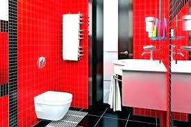 red bathroom decor ideas sets bold black white and decorating truck red and black bathroom decorating ideas
