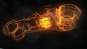tron legacy bike animated