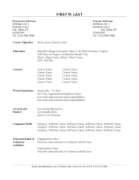 Wonderful Official Resume Format Doc Pictures Inspiration