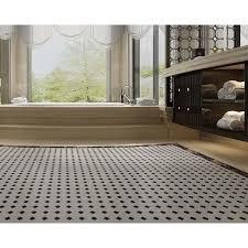 glazed porcelain pool tile mosaic black white octagon surface art tiles floor kitchen backsplashes