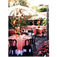 more views 90 round checd black and white tablecloths