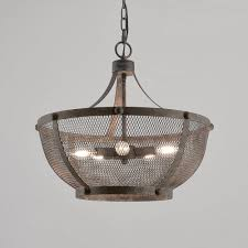 Mesh Pendant Light Details About Industrial Loft Bowl Type Pendant Light With Gray Iron Wire Mesh Shade 5 Light