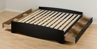 king size bed frame with storage  decofurnish