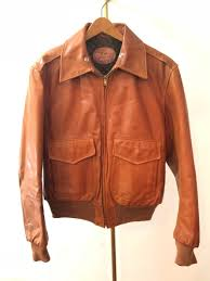 70s usa made sea dream leather jacket rib attaching talon lining quilt m size brown sheepskin