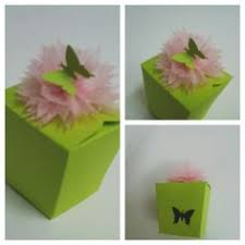 Paper Flower Punches Box Gift Paper Craft Punch Tissue Paper Flower Dragonfly