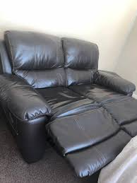 harveys chocolate brown real leather 3 2 seater electric recliner sofa used 1 of 10only 1 available